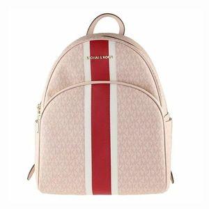 Michael Kors Pink Abbey Center Stripe Backpack